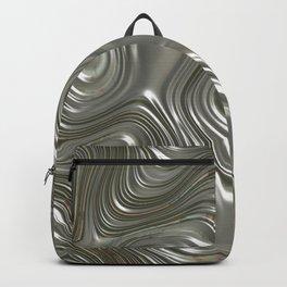 Modern abstract metal geometrical lines pattern Backpack