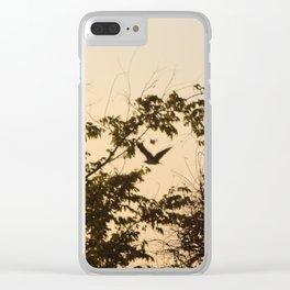 Bird in Flight Clear iPhone Case