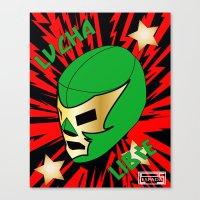 mucha Canvas Prints featuring Mucha Lucha by Los Espada Art