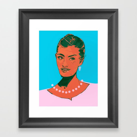 Here I Am Framed Art Print