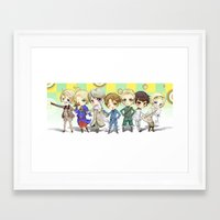 hetalia Framed Art Prints featuring Hetalia by Meaghan Meadows