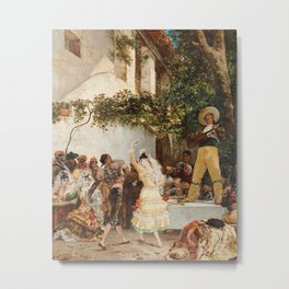 Georges Jules Victor Clairin - The Spanish Dancers Metal Print