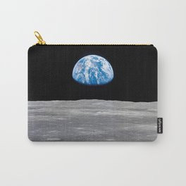 Earth Rising, Galaxy Background, Universe Large Print, Space Wall Art Decor, Deep Space Poster Decor Carry-All Pouch