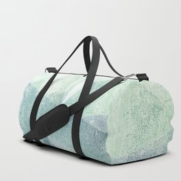 Frozen Geometry - Teal & Turquoise Duffle Bag