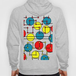 colorful dots and circles Hoody