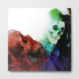 Jagged Little Skull Metal Print