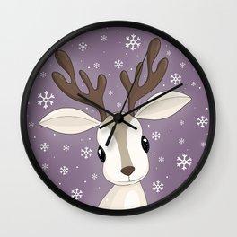 Cute Reindeer Wall Clock