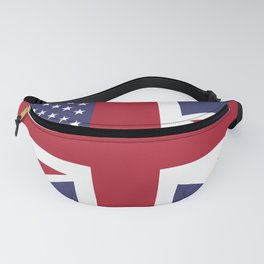 United States and The United Kingdom Flags United Forever Fanny Pack