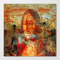 da vinci Canvas Prints featuring Leonardo da Vinci Abstract  by  Agostino Lo Coco