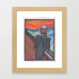 The Scream (Hush Gentleman from Buffy) Framed Art Print
