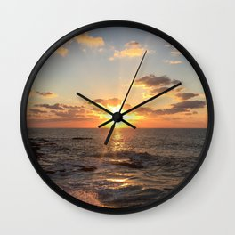 Mediterranean Sunset (Joppa) Wall Clock