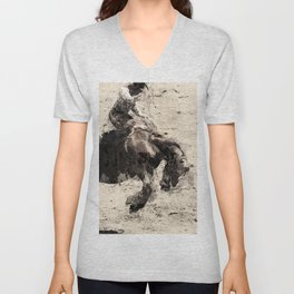 Hanging On - Bronco Busting Champ Unisex V-Neck