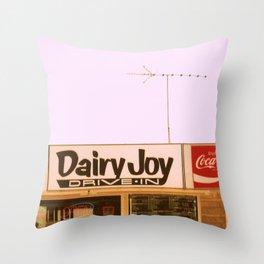 Dairy Joy ~ vintage ice cream sign/stand Throw Pillow