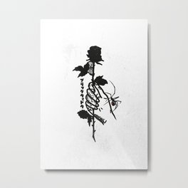 Blackwidow & Rose Metal Print