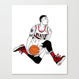 Damian Lillard - Portland Trailblazers Canvas Print