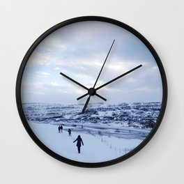Walking down Iceland Wall Clock