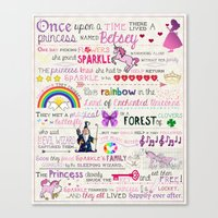 fairy tale Canvas Prints featuring FAIRY TALE by Precious Beast