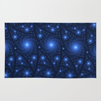 starry night Area & Throw Rugs featuring Starry Starry Night by Lyle Hatch