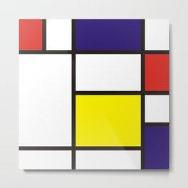 Colorful composition no.3 Mondrian Metal Print