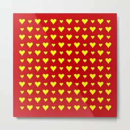 heart and love 7 - red and yellow Metal Print