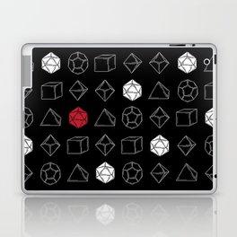 Black Dungeons and Dragons Dice Set Pattern Laptop & iPad Skin