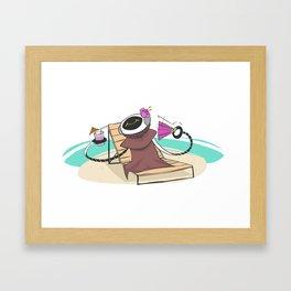 marvin's vacation Framed Art Print