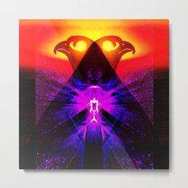 Pyramid Sunset Metal Print