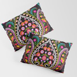 folk damask Pillow Sham