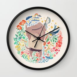 Dog Run Wall Clock