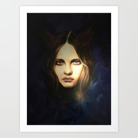 devil Art Prints featuring Devil by Pamela Schaefer