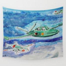 Three group flights Wall Tapestry