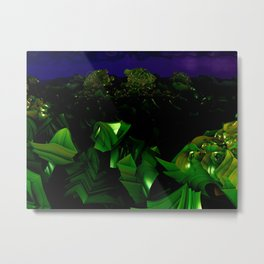 garden at midnight Metal Print