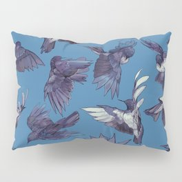 navy birds Pillow Sham
