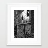 theatre Framed Art Prints featuring Puppet Theatre by Michael Brack