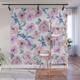 Pastel flowers Wall Mural