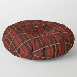 Plaid - Red Floor Pillow