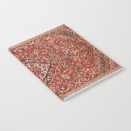 Kashan  Antique Central Persian Rug Print Notebook