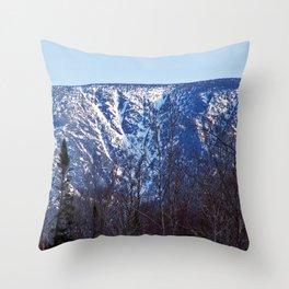 Mountain Crevasses Throw Pillow