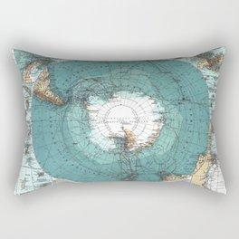 Antarctica Vintage map Rectangular Pillow