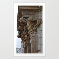 atlas Art Prints featuring Atlas by Chema G. Baena Art
