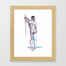 RICKY, Nude Male by Frank-Joseph Framed Art Print