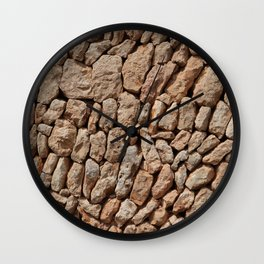 Stone wall background Wall Clock