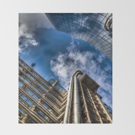 Lloyds of London and Willis Group Buildings Throw Blanket