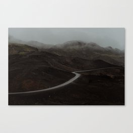 A road in Iceland Canvas Print