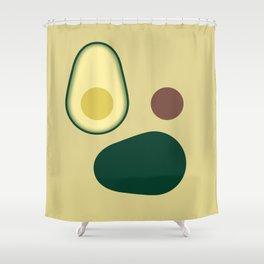 Avocado face Shower Curtain