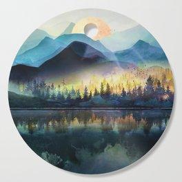 Mountain Lake Under Sunrise Cutting Board