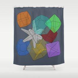 Cluster Flux Shower Curtain