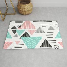 triangular geometric shape Rug