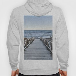 """Walking to the beach....."" At sunset Hoody"