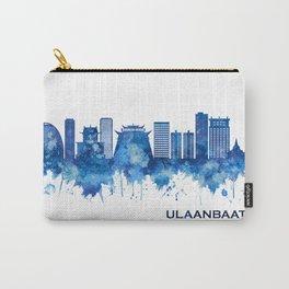 Ulaanbaatar Mongolia Skyline Blue Carry-All Pouch